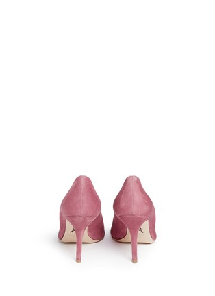 Back View - Click To Enlarge - Paul Andrew - 'Kimura' wavy topline suede pumps