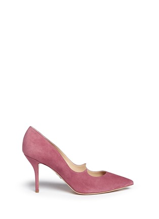 Main View - Click To Enlarge - Paul Andrew - 'Kimura' wavy topline suede pumps