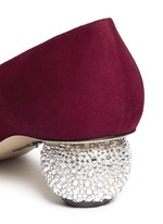 'Ankara' Swarovski crystal pavé heel suede pumps