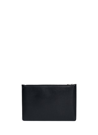 Back View - Click To Enlarge - Dolce & Gabbana - Sicilian man appliqué medium leather zip pouch