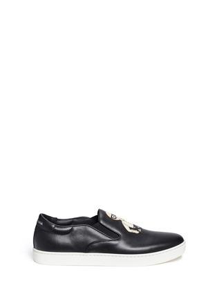 Dolce & Gabbana-'London' designer appliqué leather skate slip-ons
