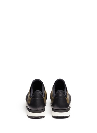 Back View - Click To Enlarge - Dolce & Gabbana - 'Belgrado' combo leather sneakers