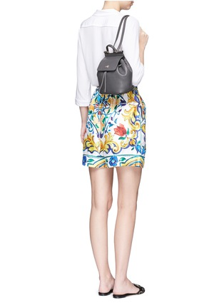 Figure View - Click To Enlarge - Dolce & Gabbana - 'Miss Sicily' mini grainy leather backpack