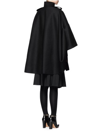 Back View - Click To Enlarge - Valentino - Foldup armseye virgin wool cape
