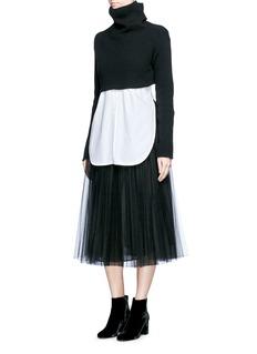 ValentinoLayered tulle skirt