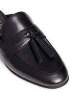'Paris' tassel leather slide loafers