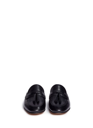 Front View - Click To Enlarge - Sam Edelman - 'Paris' tassel leather slide loafers