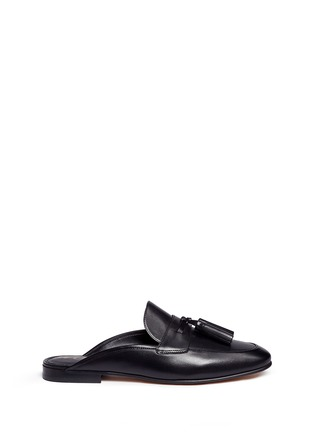 Main View - Click To Enlarge - Sam Edelman - 'Paris' tassel leather slide loafers