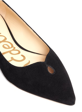 Detail View - Click To Enlarge - Sam Edelman - 'Ruby' keyhole vamp suede skimmer flats