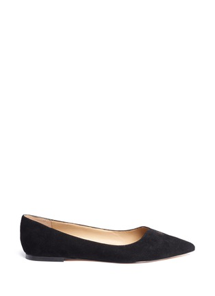 Main View - Click To Enlarge - Sam Edelman - 'Ruby' keyhole vamp suede skimmer flats