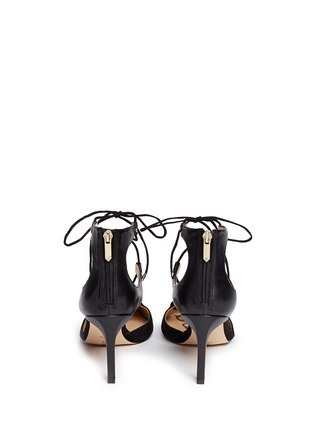 Sam Edelman - 'Taylor' lace-up suede and leather pumps