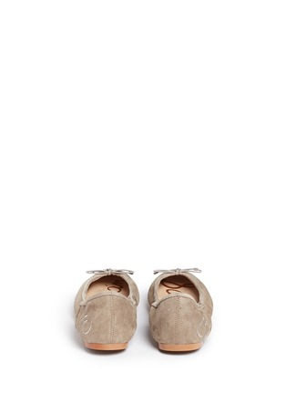 Back View - Click To Enlarge - Sam Edelman - 'Felicia' suede ballet flats