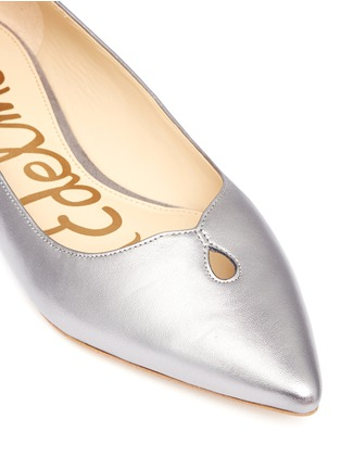 Detail View - Click To Enlarge - Sam Edelman - 'Ruby' keyhole vamp metallic leather flats