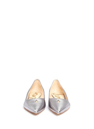 Front View - Click To Enlarge - Sam Edelman - 'Ruby' keyhole vamp metallic leather flats