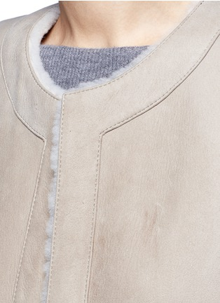 Detail View - Click To Enlarge - Theory - 'Skea F' reversible lambskin shearling gilet