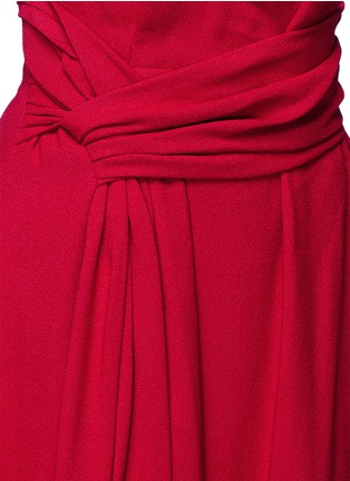 Detail View - Click To Enlarge - Lanvin - Draped sash textured skirt