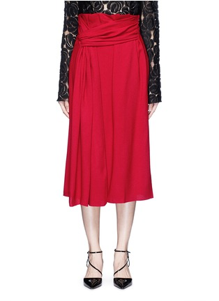Main View - Click To Enlarge - Lanvin - Draped sash textured skirt