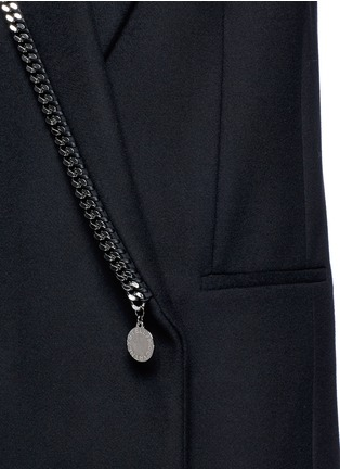 Detail View - Click To Enlarge - Stella McCartney - Falabella chain wool blend melton overcoat