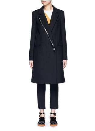 Main View - Click To Enlarge - Stella McCartney - Falabella chain wool blend melton overcoat