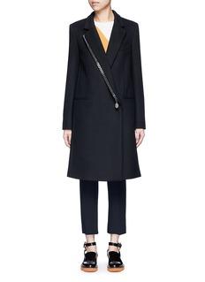 Stella McCartneyFalabella chain wool blend melton overcoat