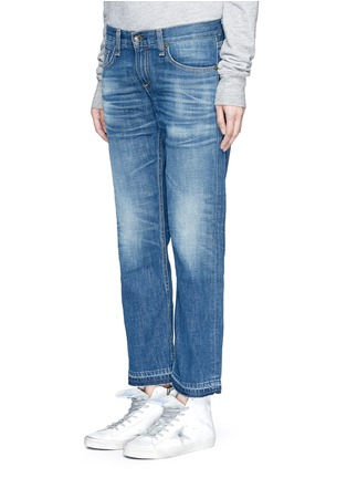 Front View - Click To Enlarge - rag & bone/JEAN - 'X Boyfriend' slim fit straight leg jeans