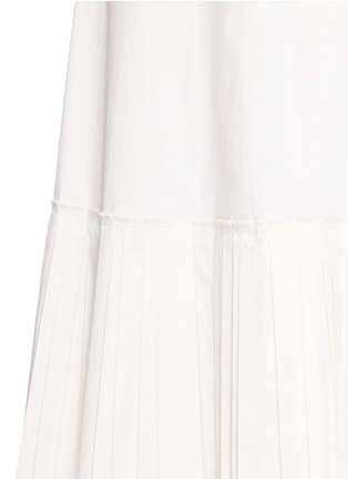 Detail View - Click To Enlarge - Theory - 'Minkar' pleat hem wrap waist poplin dress