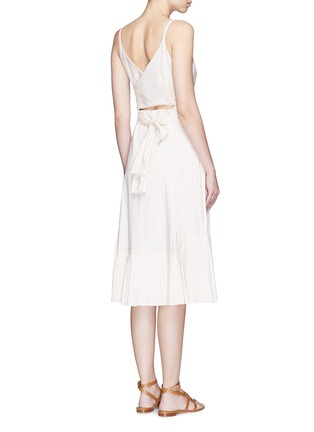 Theory - 'Minkar' pleat hem wrap waist poplin dress