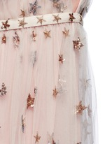 Sequin star plunge tulle dress