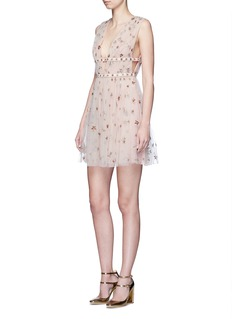 Valentino Sequin star plunge tulle dress