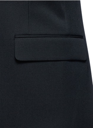 Detail View - Click To Enlarge - SAINT LAURENT - Satin peak lapel virgin wool jacket
