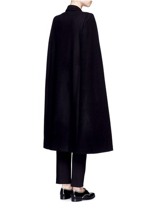 Back View - Click To Enlarge - Stella McCartney - 'Becker' wool blend melton tuxedo cape coat