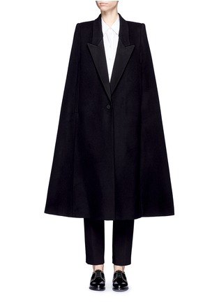 Main View - Click To Enlarge - Stella McCartney - 'Becker' wool blend melton tuxedo cape coat