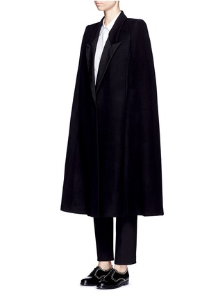 Figure View - Click To Enlarge - Stella McCartney - 'Becker' wool blend melton tuxedo cape coat
