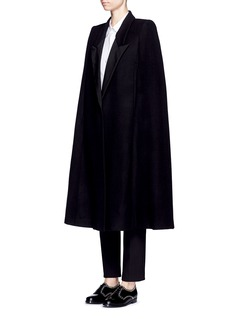 Stella McCartney'Becker' wool blend melton tuxedo cape coat