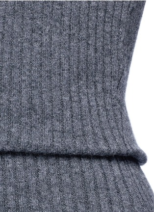 Detail View - Click To Enlarge - alice + olivia - 'Arra' rib knit turtleneck dress