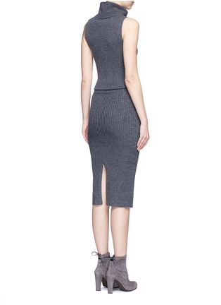 Back View - Click To Enlarge - alice + olivia - 'Arra' rib knit turtleneck dress