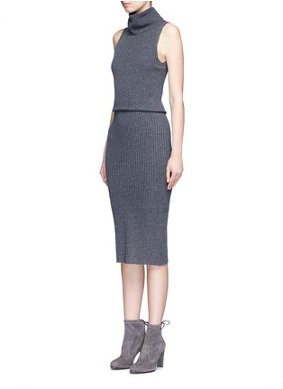 Front View - Click To Enlarge - alice + olivia - 'Arra' rib knit turtleneck dress