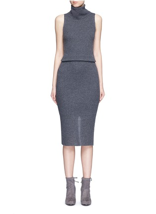 Main View - Click To Enlarge - alice + olivia - 'Arra' rib knit turtleneck dress
