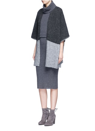 Figure View - Click To Enlarge - alice + olivia - 'Arra' rib knit turtleneck dress