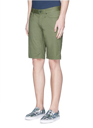 Front View - Click To Enlarge - Denham - 'Razor' cotton shorts
