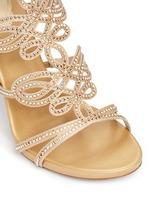 Strass pavé lasercut satin sandals