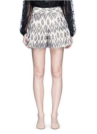 Main View - Click To Enlarge - alice + olivia - 'Scarlet' ikat print flutter shorts