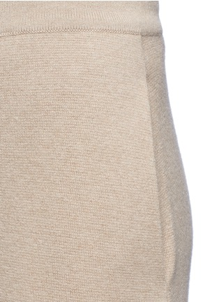 Detail View - Click To Enlarge - Stella McCartney - Wide leg wool rib knit pants