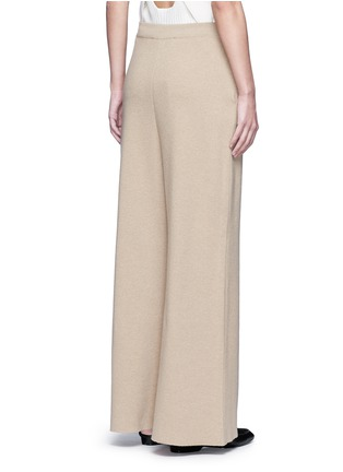 Back View - Click To Enlarge - Stella McCartney - Wide leg wool rib knit pants