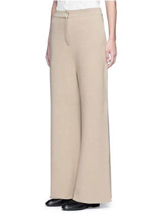 Front View - Click To Enlarge - Stella McCartney - Wide leg wool rib knit pants