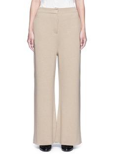 Stella McCartneyWide leg wool rib knit pants