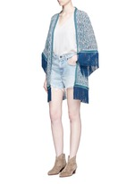 'Zoya' tribal print silk cover-up