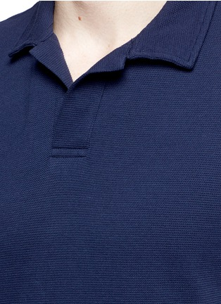 Detail View - Click To Enlarge - Orlebar Brown - 'Massey Airtex' knit polo shirt