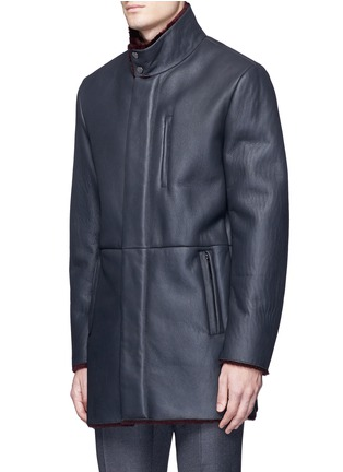 Front View - Click To Enlarge - Armani Collezioni - Shearling coat