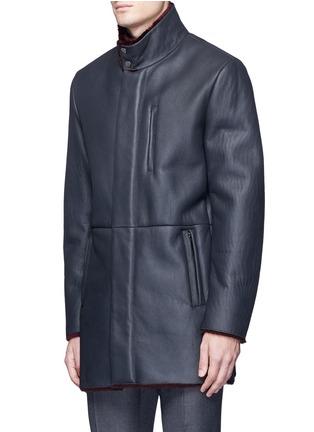 正面 -点击放大 - ARMANI COLLEZIONI - 羊皮毛一体长款夹克